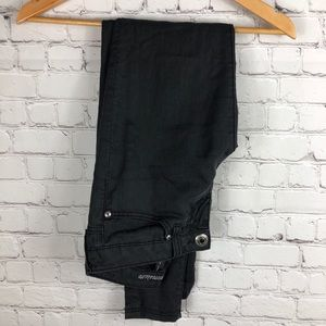 Guess Black Power Skinny Wax Jeans Size 25
